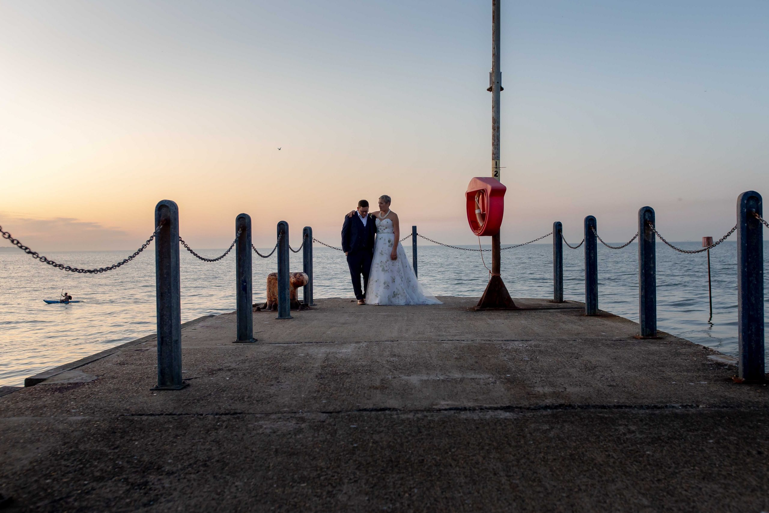 wedding at East Quay venue in Whitstable