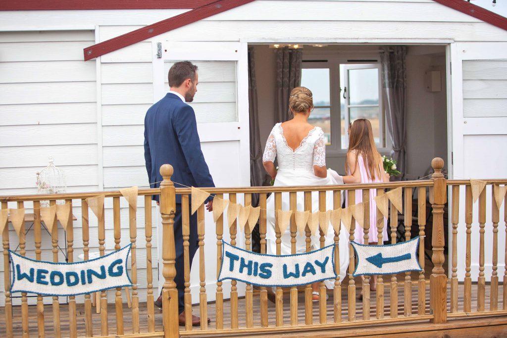beach hut wedding venue