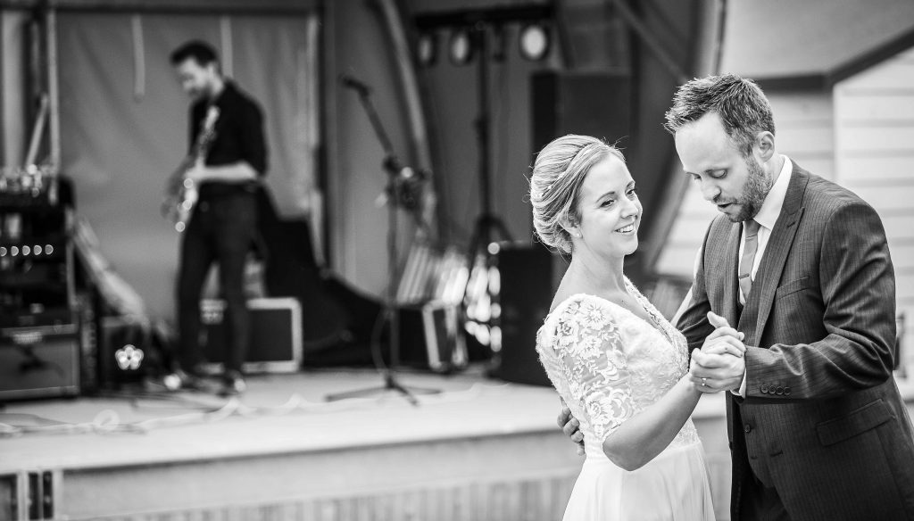 bride and groom first dance at Herne bay wedding