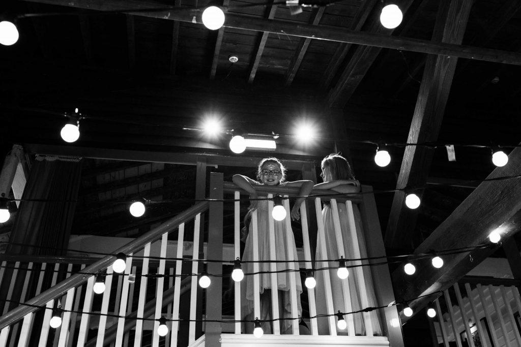 2 girls at East quay wedding venue reception posing