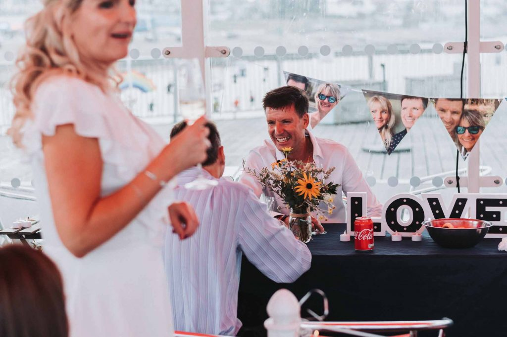 wedding reception on Herne Bay Pier