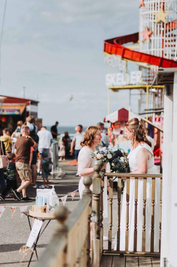 same sex wedding on herne bay pier