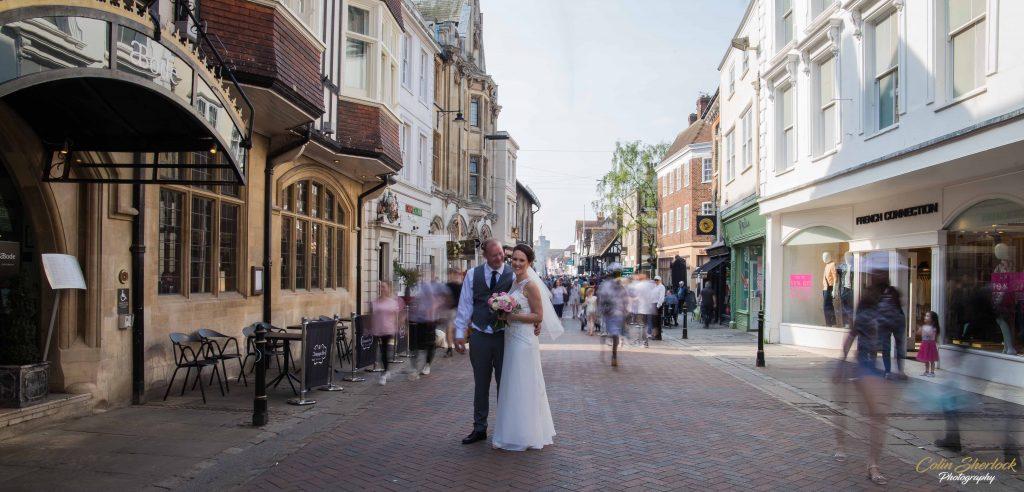 wedding portraits in Canterbury high street