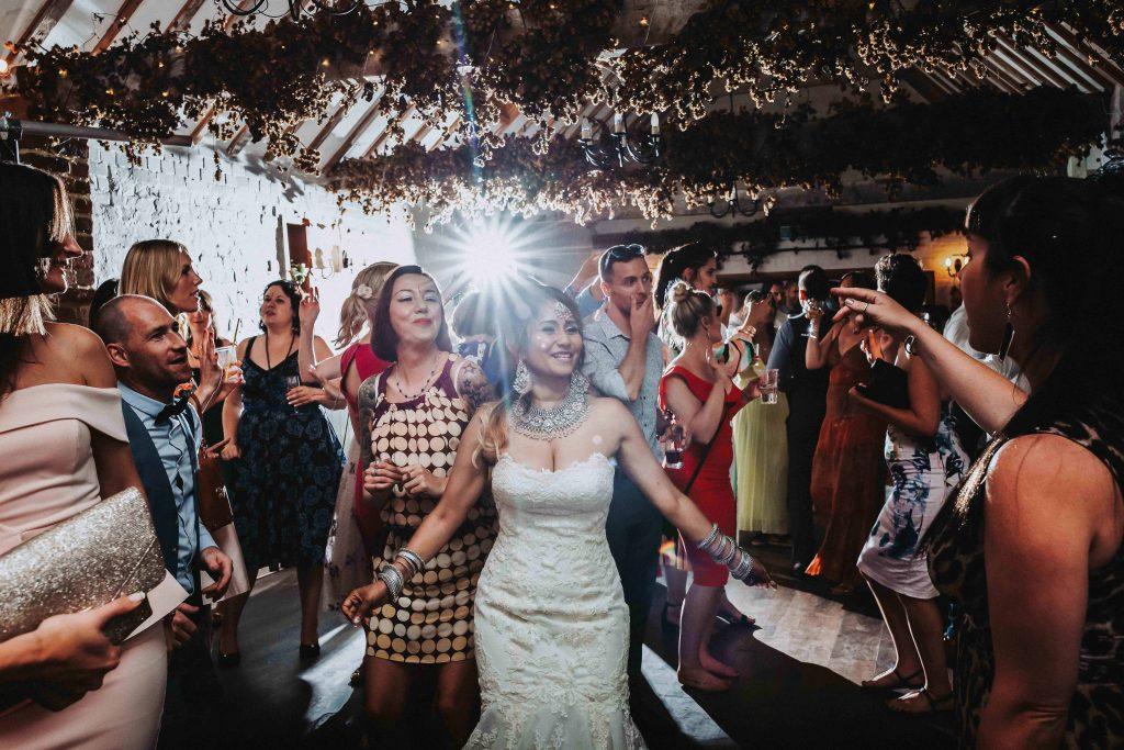 wedding dancefloor action