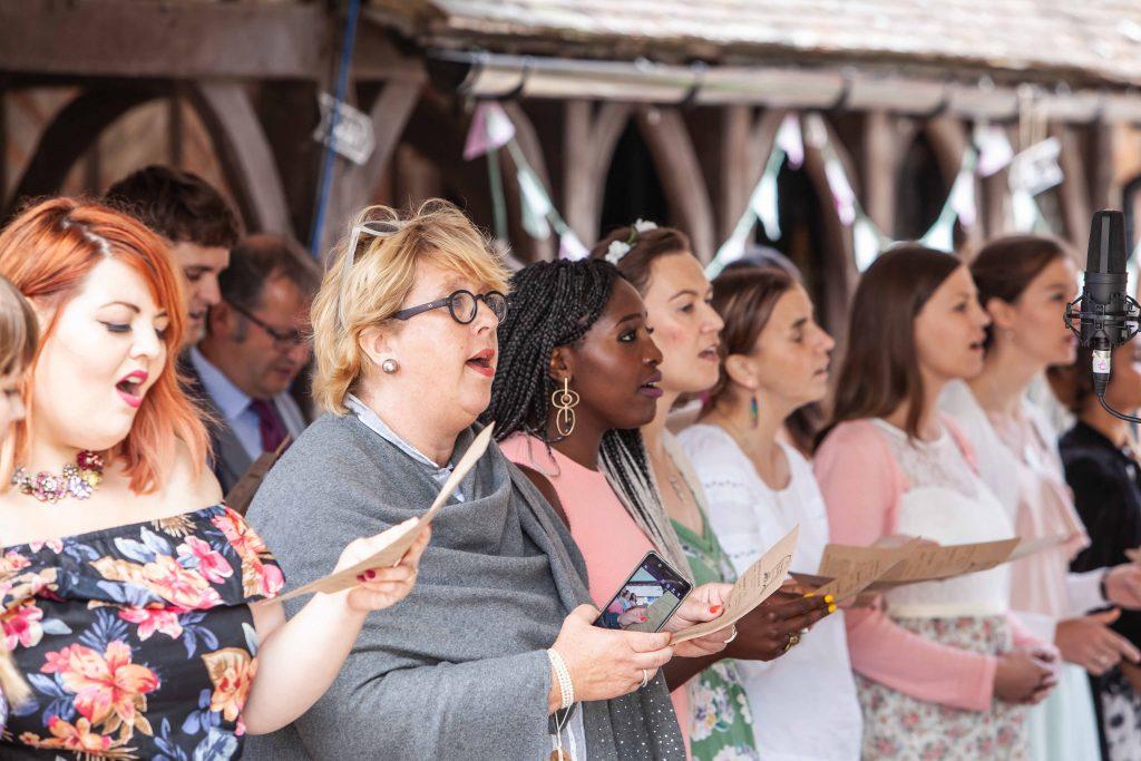 choir singing at wedding