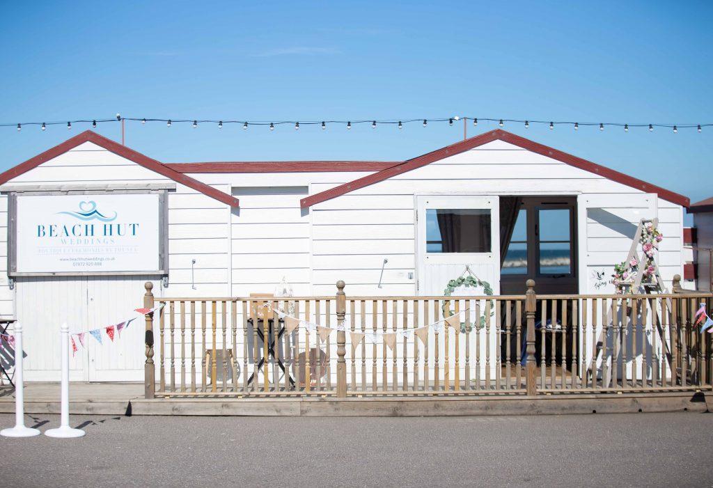 beach hut wedding venue on Herne Bay Pier