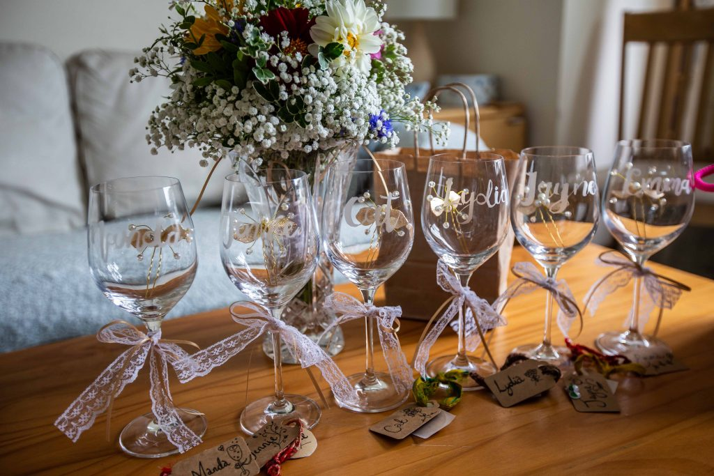 personalised wine glasses bridesmaids gifts