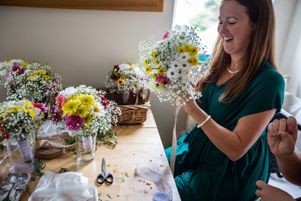 homegrown flowers for bridal bouquets