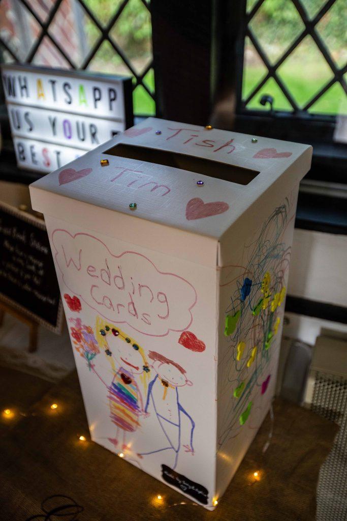wedding card postbox designed by children
