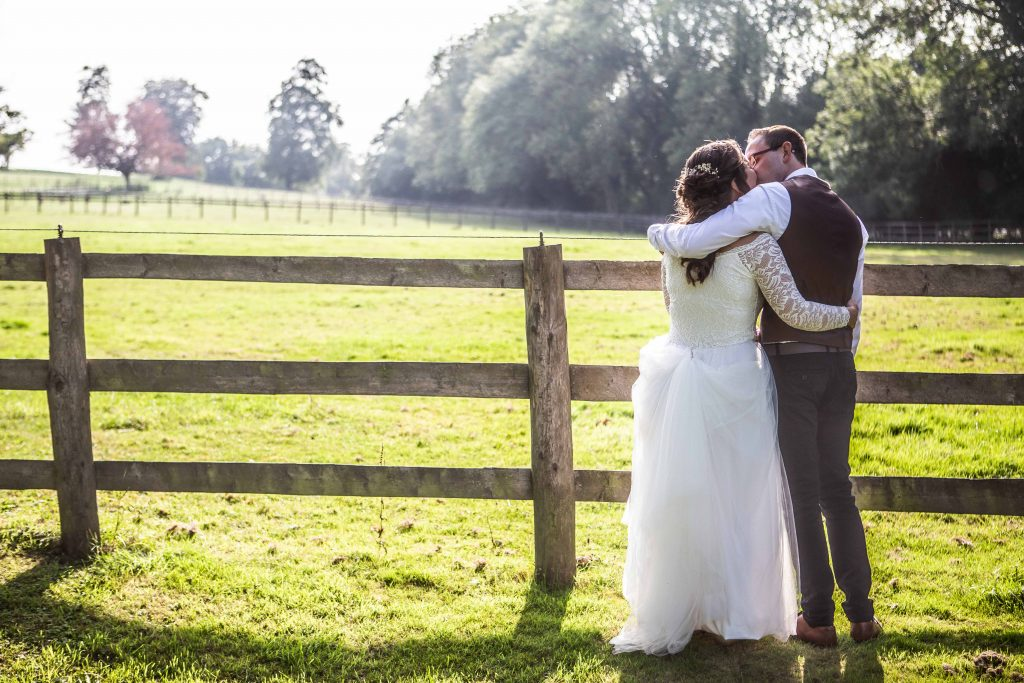 bride and groom portrait at chilham village hall