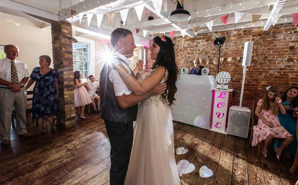 1st dance at wedding