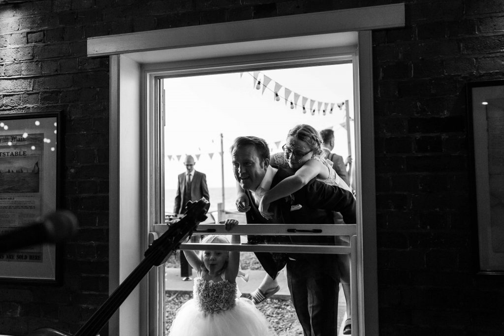 wedding reception at East Quay venue in Whitstable