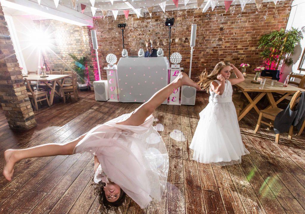 children at wedding on dancefloor