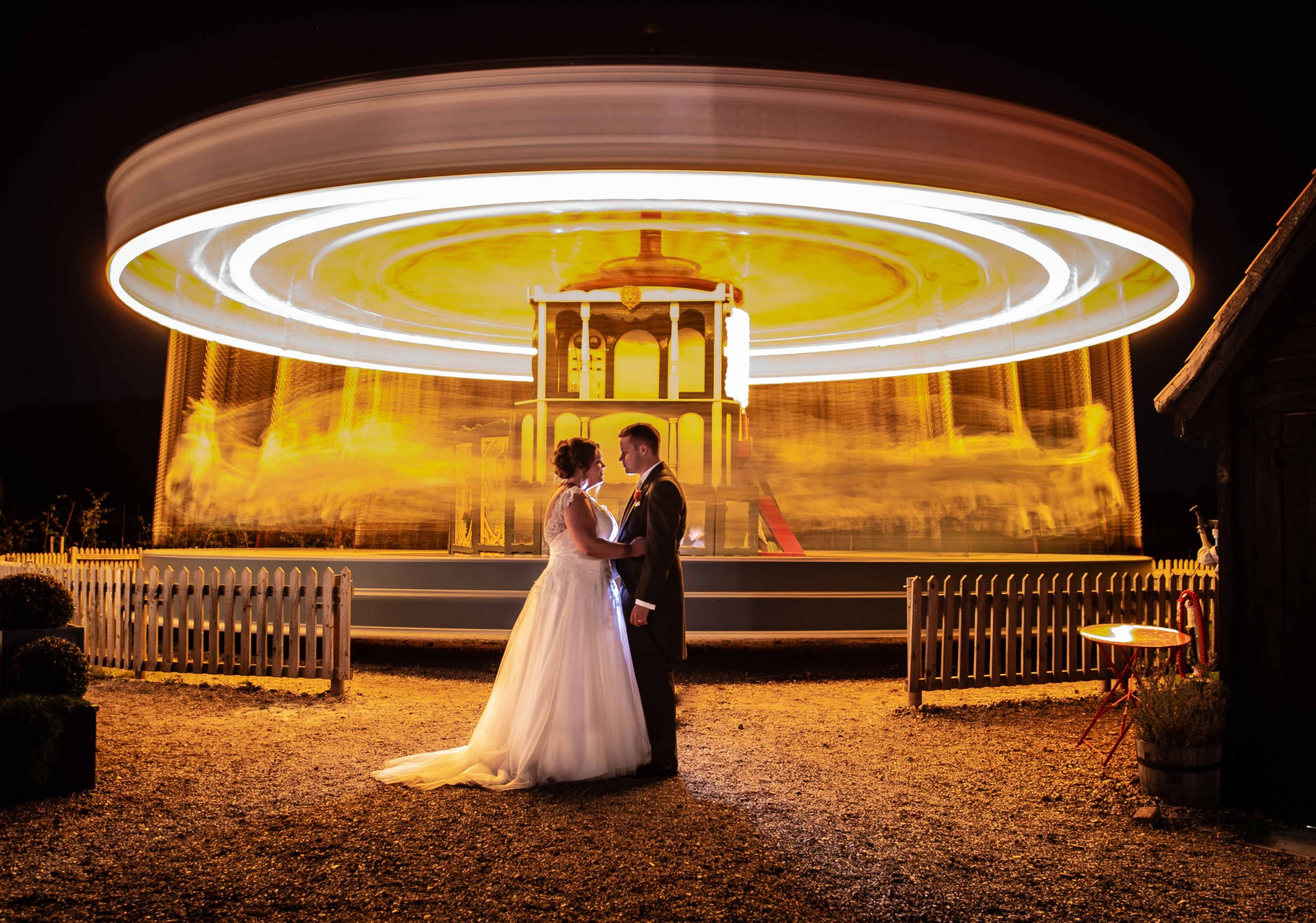 Bride and Groom - Carousel - Preston Court