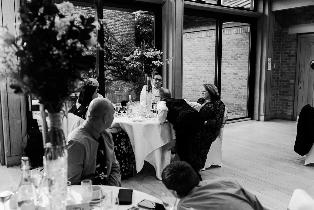 wedding reception at Canterbury Cathedral Lodge