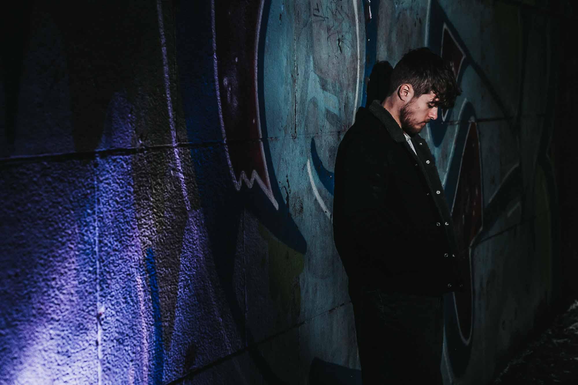 Urban flash portrait of actor/model