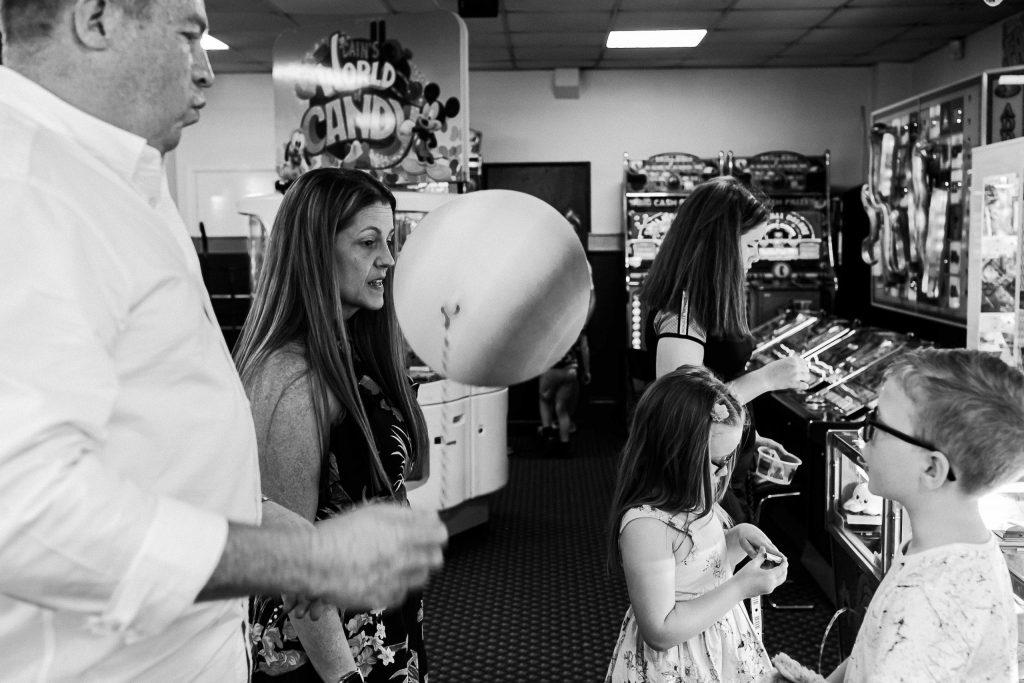 family in amusement arcades