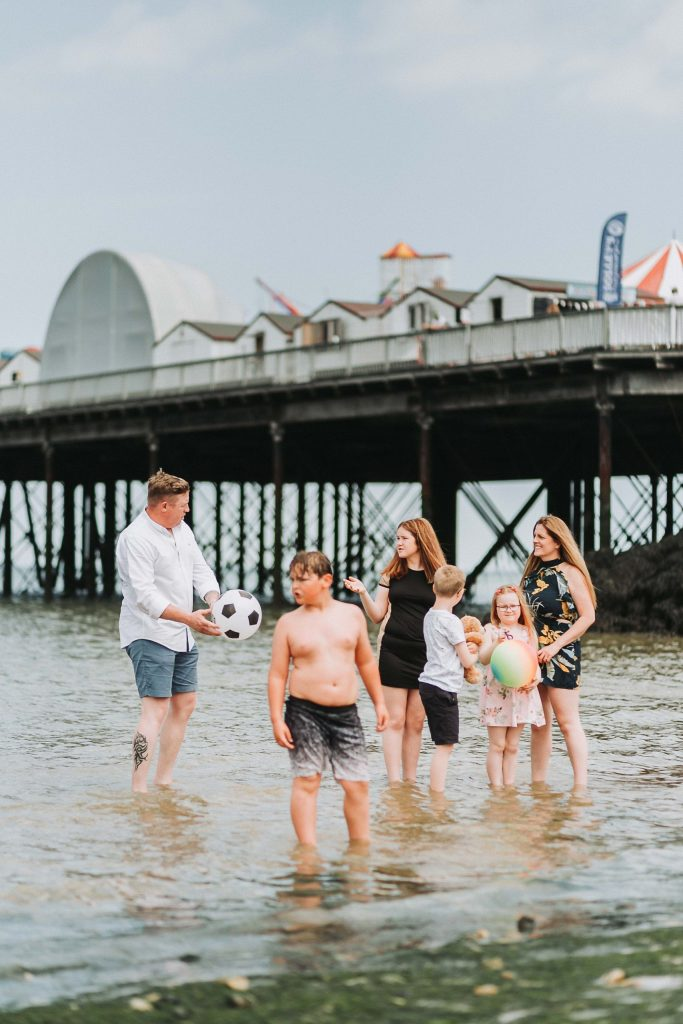 pre wedding family shoot in the sea at herne bay