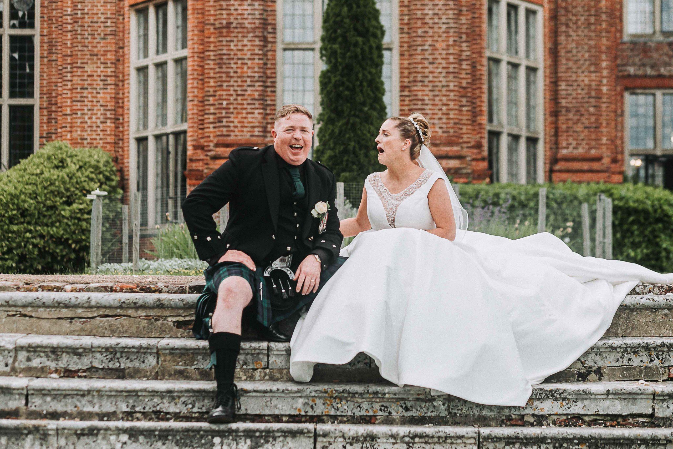 wedding portraits at a Broome Park wedding
